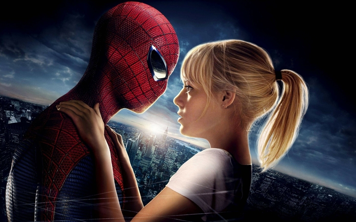 sunrise love cityscapes movies spiderman emma stone peter parker gwen stacy the amazing spiderman_www.wallpaperfo.com_16